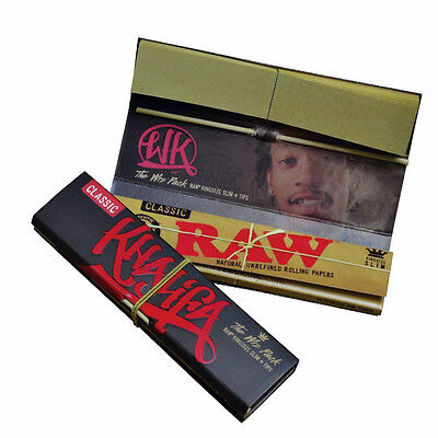 RAW Connoisseur Wiz Khalifa Natural Hemp Rolling Papers Filter Tips King Size