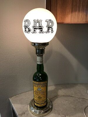 Vintage Cutty Sark Scots Whiskey Bar Lamp Light