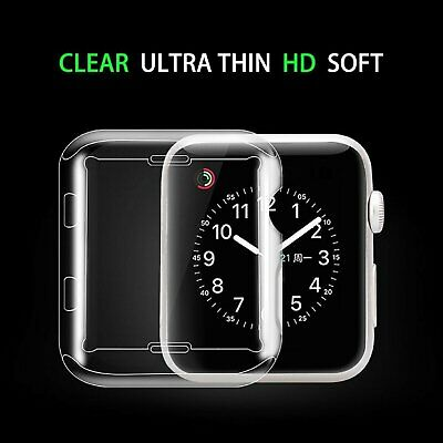 Silicone Full Soft Cover for Apple Watch Series 3 2 Cases Protector Ultra-Thin