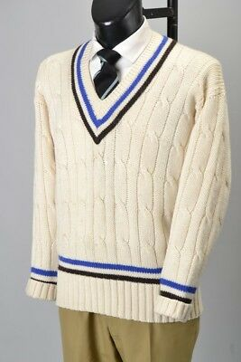 Cricketer's British Made s44 Chest Pullover with Bath Colours. Ref GXR