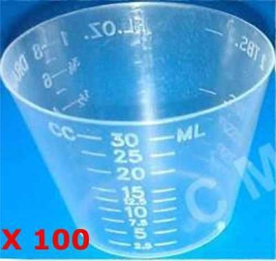 4oz Graduated Transparent Polypropylene Plastic Cups For Mixing Epoxy Resin -