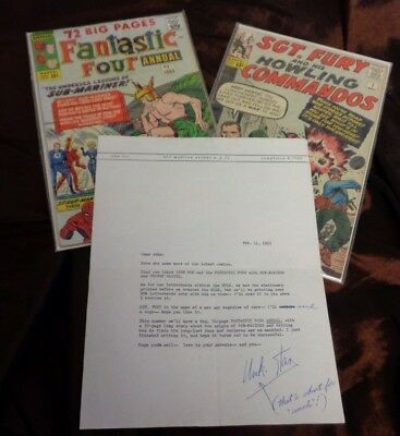 Historic Original Marvel Creation Letter From Stan Lee Hand Typed & Signed Cgc