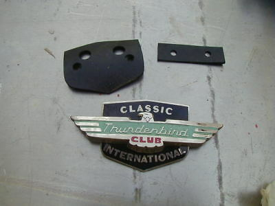 NOS Thunderbird Club Classic International Grille Emblem badge aaca scta tbird