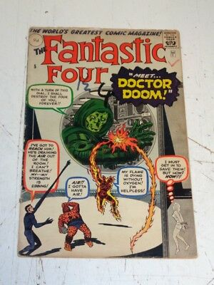 Fantastic Four #5 Fr (1.5) Original Copy Cheapest Copy In World 1St Dr Doom (Sa)