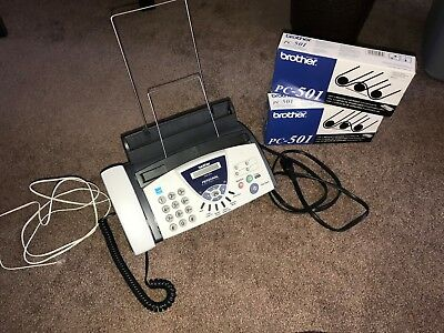 Brother 575 Personal Fax Phone and Copier (Includes 2 brand new cartridges)