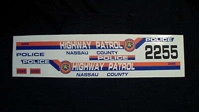"1:18 "" Nassau County  Highway Patrol "" Police Decal"
