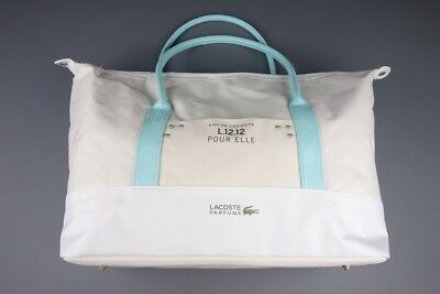 Lacoste Pour Elle Cream Holdall / Weekend/ Travel Overnight/ Gym Sports Bag