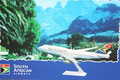 AK Airliner Postcard SOUTH AFRICAN B.747 airline issue