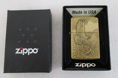Zippo Windproof Lighter American Eagles Gold Finish