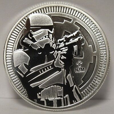 Stormtrooper 2018 Coin $2 Niue .999 Fine Silver 1 oz Troy - Star Wars - JR343
