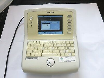 Philips Pagewriter Trim Ii Lcd Ecg Machine Cardiograph Ekg Monitor Leads Printer