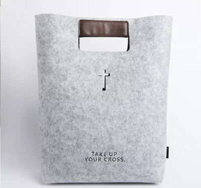 Bible Carrying Case Handbag Bible Cover Wool Felt Bible,Leather Tote Bible Case