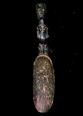 Old Tribal Fang Reliquary Spoon Figure      -- Gabon