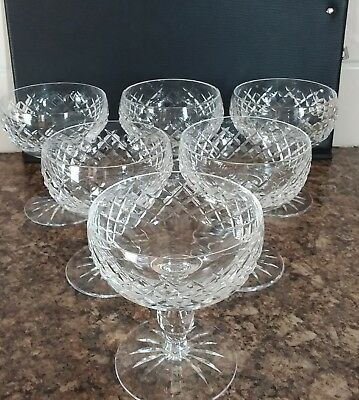 6  Waterford Crystal Champagne/cocktail Glasses