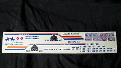 "1:18 "" Royal Canadian Mounted Police "" RCMP Decal"