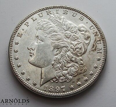 1897-P Morgan Silver Dollar - Choice BU