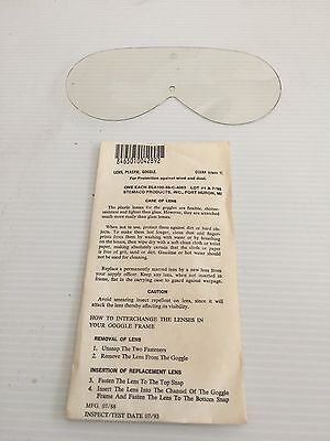 Unissued Usgi M44 Sun,wind & Dust Goggles Replacement Lens (Clear)