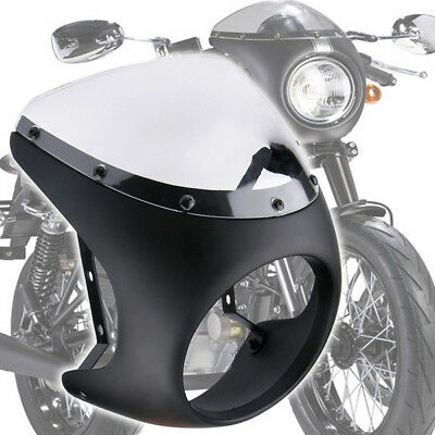 Motorcycle Body 7 Inch Cafe Racer Headlight Fairing Screen Windshield Cover Good