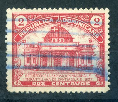 Dominican Republic 1927 2c red exhibition sound used