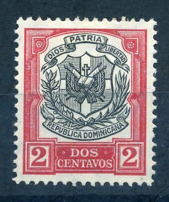 Dominican Republic 1911 2c red and black mint