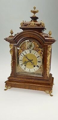 Wonderful Quality RMS Walnut Bracket Clock Quarter Strike