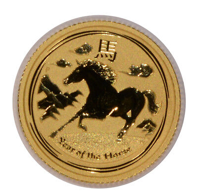 2014 P Australia Lunar Year Of The Horse $15 1/10 Gold 9999 Fine Gold Coin