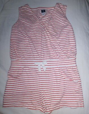 Janie and Jack Red and White Stripe 1pc Shorts Romper 4th of July Sz 5
