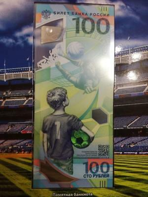 100 rubles 2018 FIFA World Cup Russia! UNC! Fast shipping!