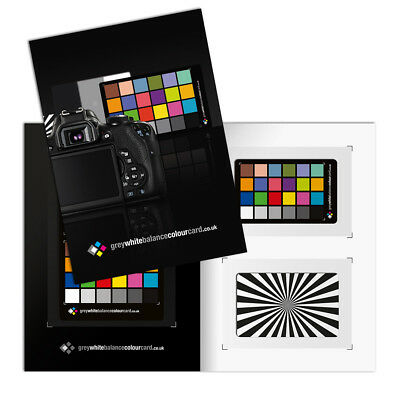 2 in 1 Grey White Balance Colour Card- The New A5 (210x148mm) card