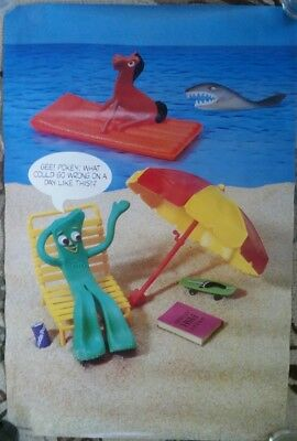 "Rare 1985 GUMBY ""What Could Go Wrong"" 21 x 32 Poster."