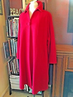 Vintage Red Cashmere Coat Ransohoffs of San Francisco- Large