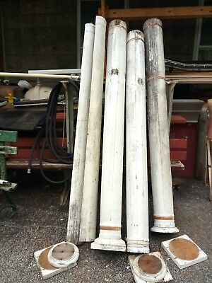 Set 4 Antique Porch Pillar Column 83 High Architectural Salvage Central Pa nrI80