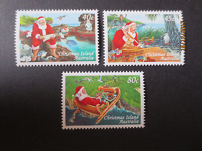 No-1-1997   CHRISTMAS  ISLAND-CHRISTMAS ISSUES   3   STAMPS - MINT--MNH