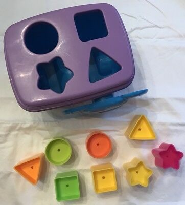 Fisher-Price Growing Baby Elephant Shape Sorter 10pcs Learning 6 months and Up