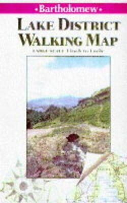 Lake District Walking Map Sheet map, folded Book The Cheap Fast Free Post