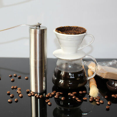 Stainless Steel Manual Coffee Grinder Mill Bean Hand Grinding Kitchen Tool USA