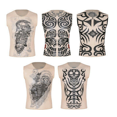 Tattoo Print Summer Breathable Hipster Mens Womens Unisex T Shirt Tank Top Vest