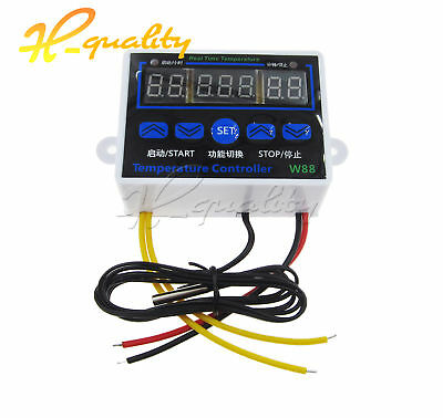 12V 24V 220V W88 LED Digital Thermostat Multi-functional Control Switch -50-110℃