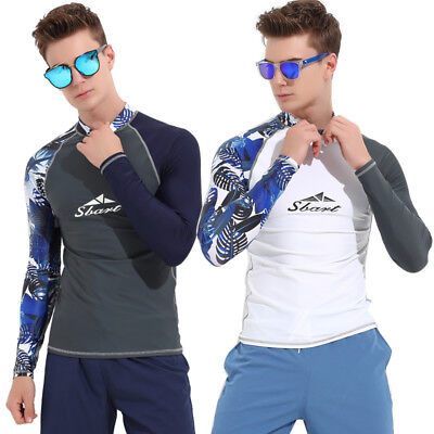 9e0cb3786856d3 Men's Rash Guard Long Sleeve Swimwear UV Protection Diving Surfing Scuba  Shirts
