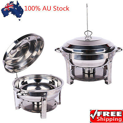 Stainless Steel Round Buffet Chafer with Stainless Steel Lid for Catering Buffet