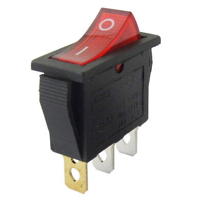 3-Pin On/Off Large Rectangle Rocker Switch LED Light Car Boat Dashboard SPST