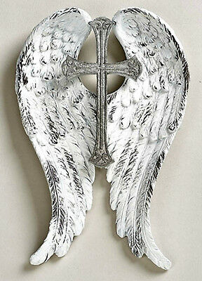 Cross with Angel Wings Wall Cross NEW Christian Perfect Memorial Item