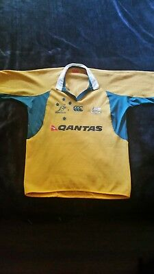 WALLABIES Player Issue Fitted Jersey (Adult XL) – Very  Good Condition