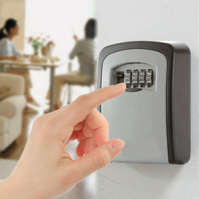 Wall Mounted 4 Digit Key Safe High Security Box Combination Lock Store Keys Car