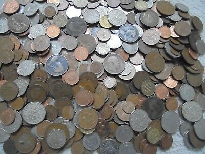 100 X Dealers Lot Of British Coins, Mixed Collection Of English, Uk Coins! Rare!