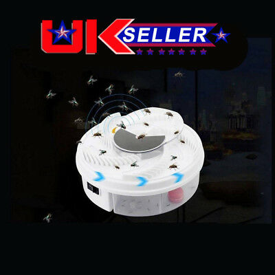 UK Special Offer Electric Fly Trap Device with Trapping Food w/White USB Cable