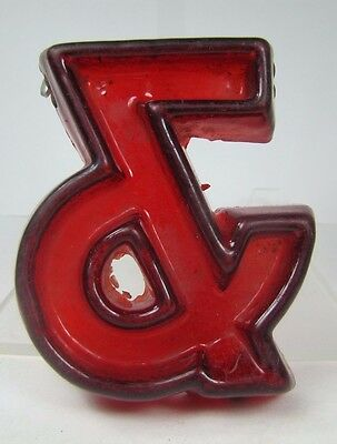 Vintage - & - Small Movie Theater Marquee Sign Letter embossed raised design red