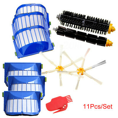 11pcs Filters & Brush Kit de pour iRobot Roomba 600/610/611/620/630/650