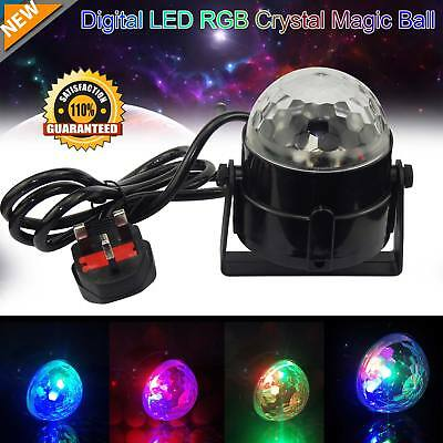 RGB LED remote Disco Home Party Crystal Magic Ball Stage Effect Light Lamp AU