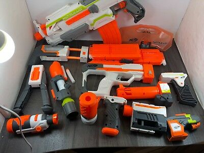 Job Lot Of Nerf Gun And Accessories Bundle Full Magazines